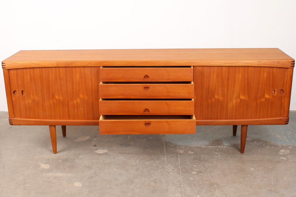 danish mid century danish modern sideboard by h w klein. Black Bedroom Furniture Sets. Home Design Ideas