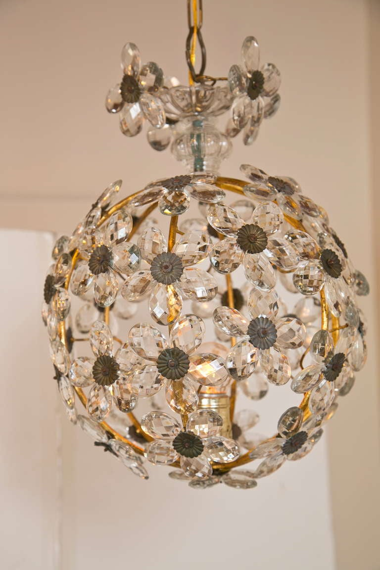 Gorgeous light from the 1920s. Rewired and ready to hang. Completely intact and a real statement-maker. Lovely.