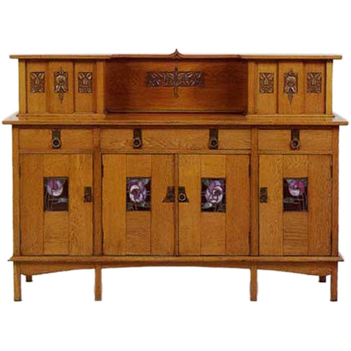 glasgow arts and crafts sideboard e a taylor for wylie. Black Bedroom Furniture Sets. Home Design Ideas
