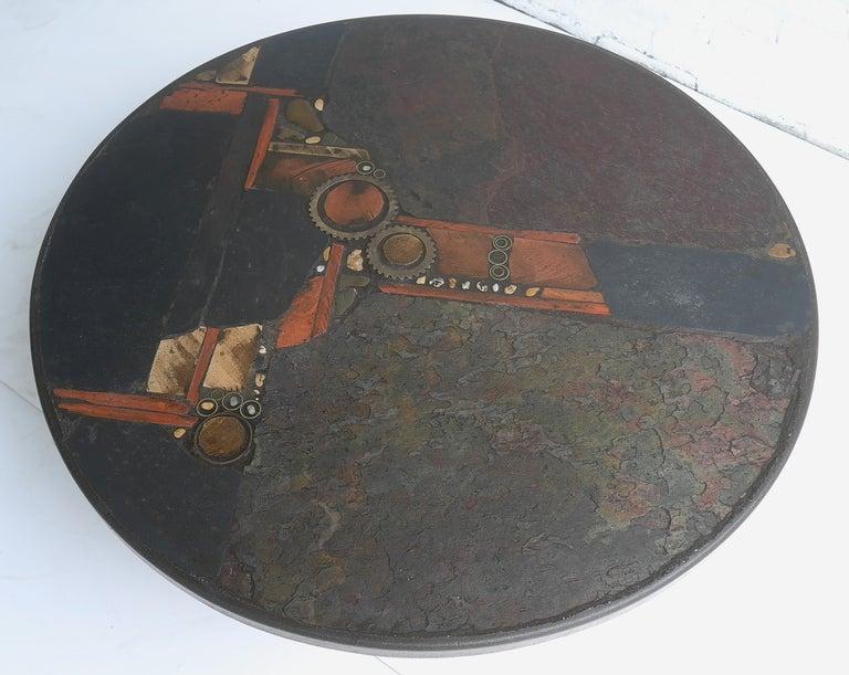 Paul Kingma Organic Art Slate And Brass Coffee Table 9