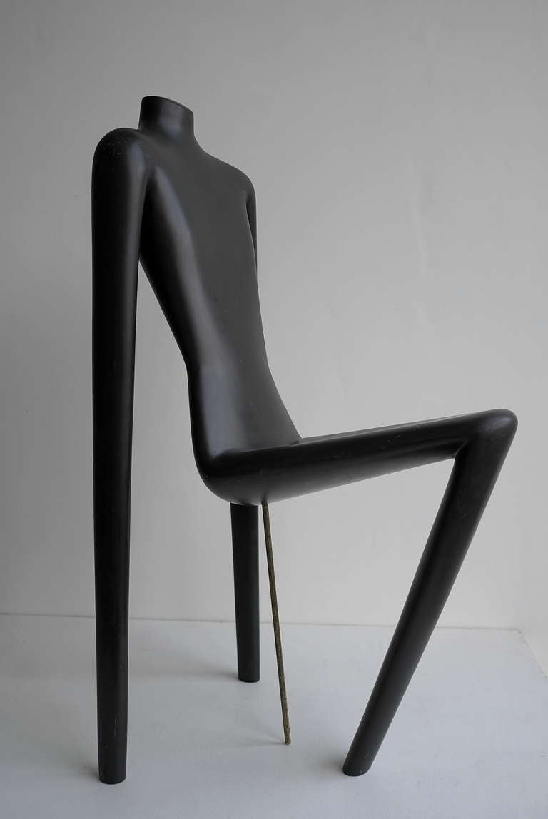 Unique mannequin chair Switzerland.  Made by Schlappi circa 1960's.  Height 106 Seat height 52cm