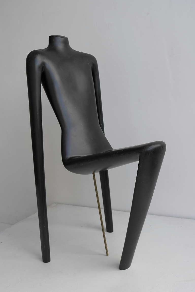 Unique Mannequin Chair, Switzerland 1970's at 1stdibs