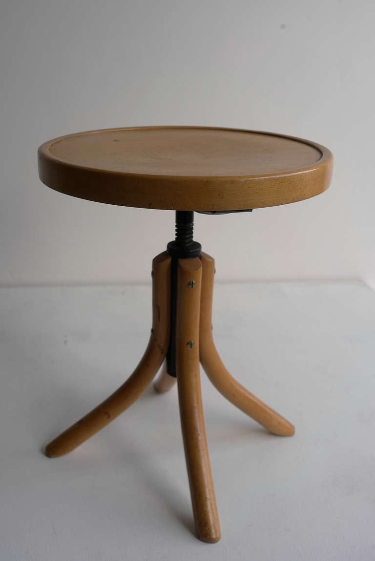Beechwood Adjustable Thonet piano Stool 2 & Beechwood Adjustable Thonet piano Stool at 1stdibs islam-shia.org