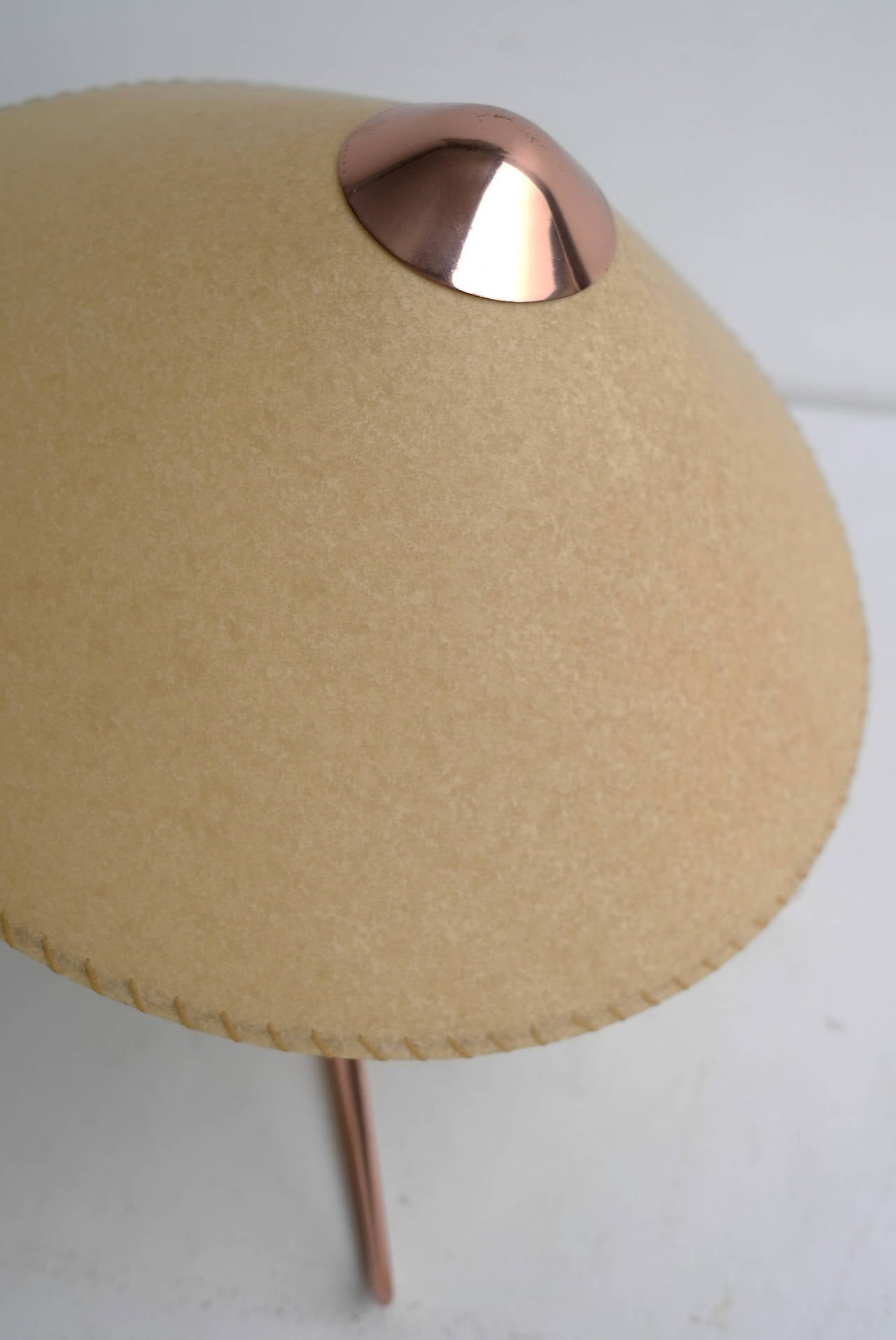 V-Shaped Copper Table Lamp, 1950s For Sale 2