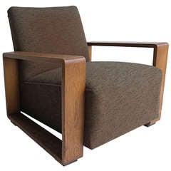 Striking Cubic Tank Armchair 1940s