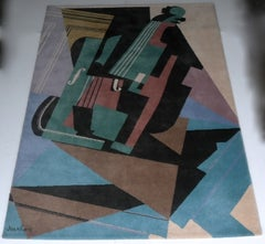Juan Gris Violin Cubist design art Carpet by Ege Axminster A/S art line Denmark