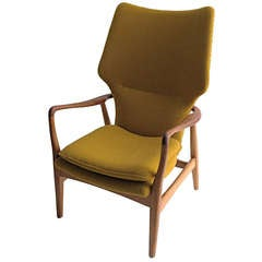 Axel Madsen Danish wingback armchair by Bovenkamp 1960s