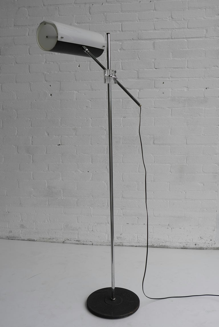 Italian Metal And Plexiglass Floor Lamp At 1stdibs