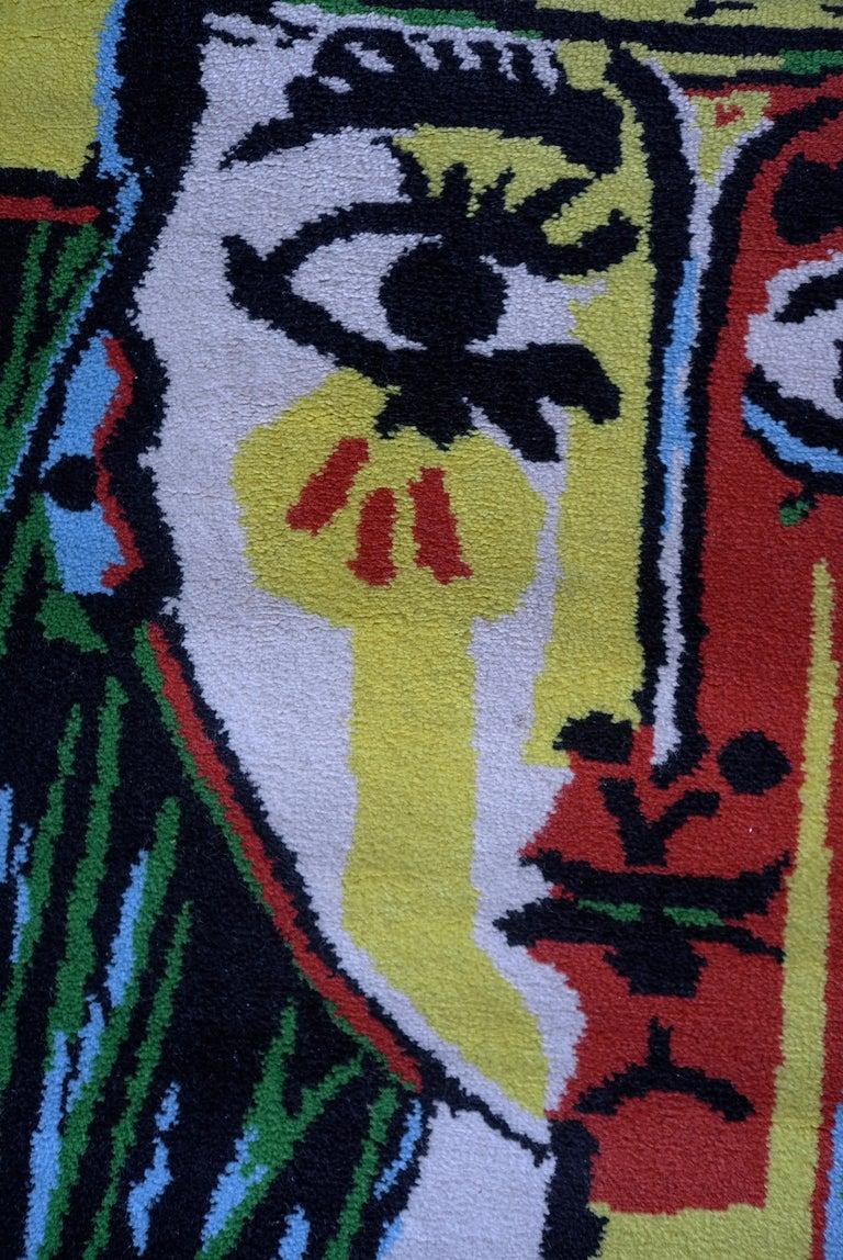 Pablo Picasso After Art Rug Femme Au Chapeau For Sale At