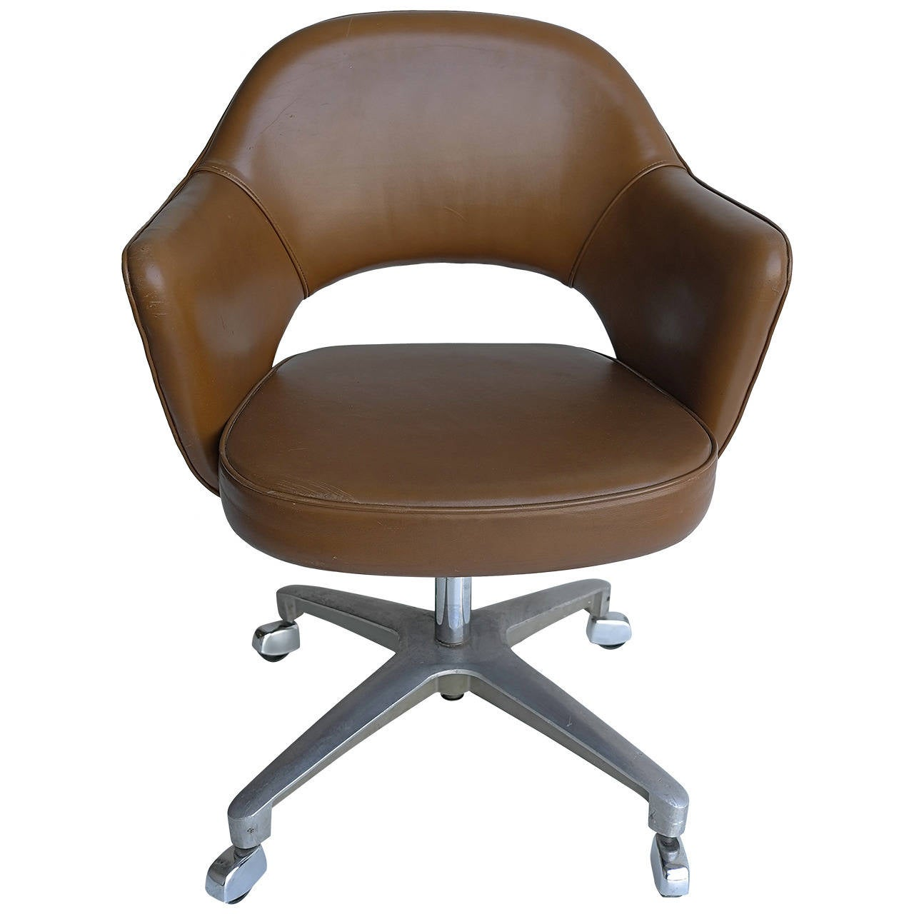 Superb Eero Saarinen Swivel Office Armchair For Knoll For Sale