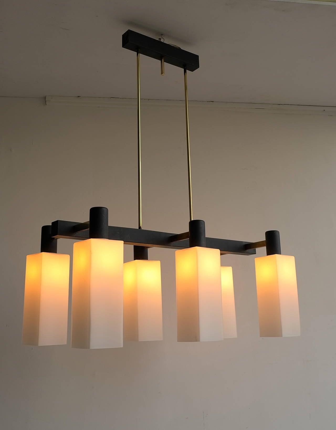 Italian Monumental Pendant Lamp, 1960s For Sale 3