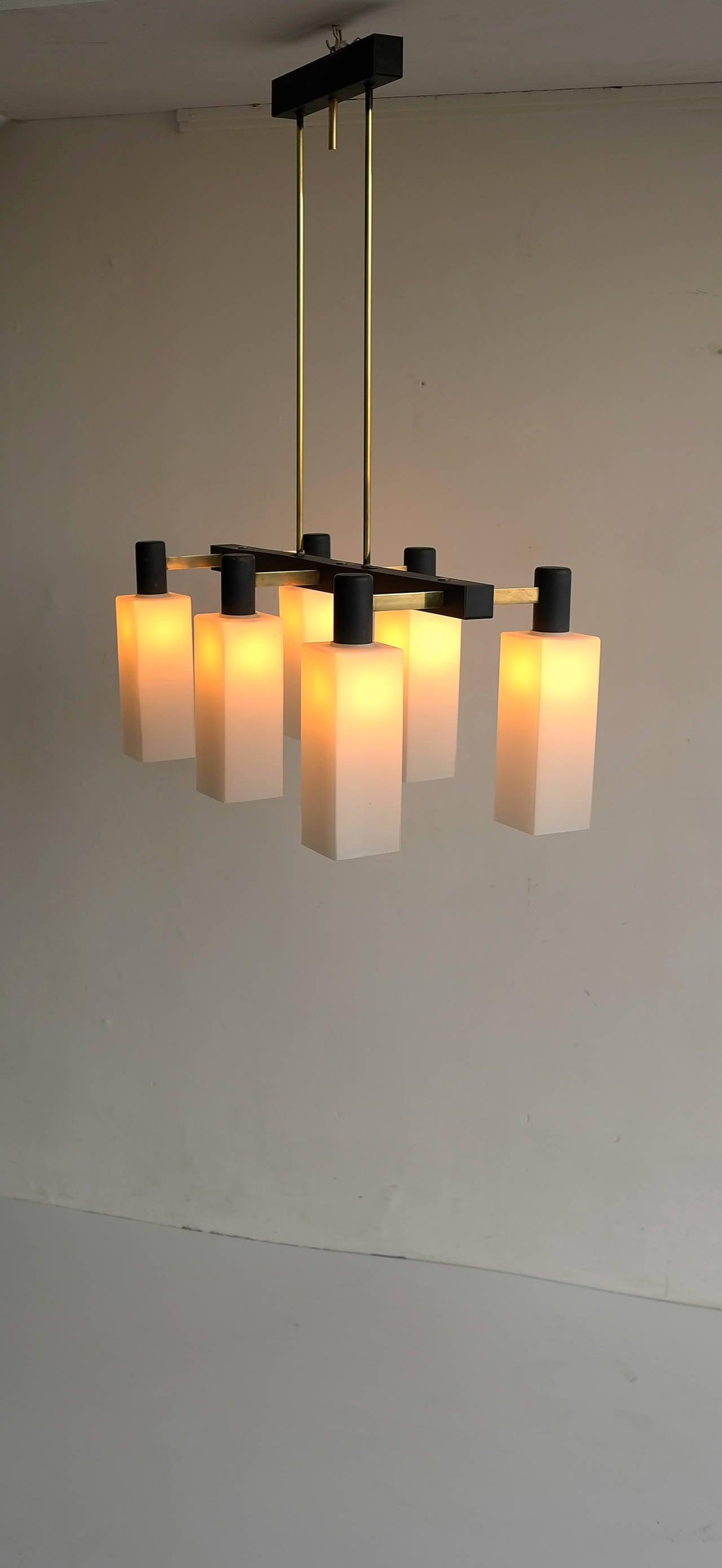 Italian Monumental Pendant Lamp, 1960s For Sale 2
