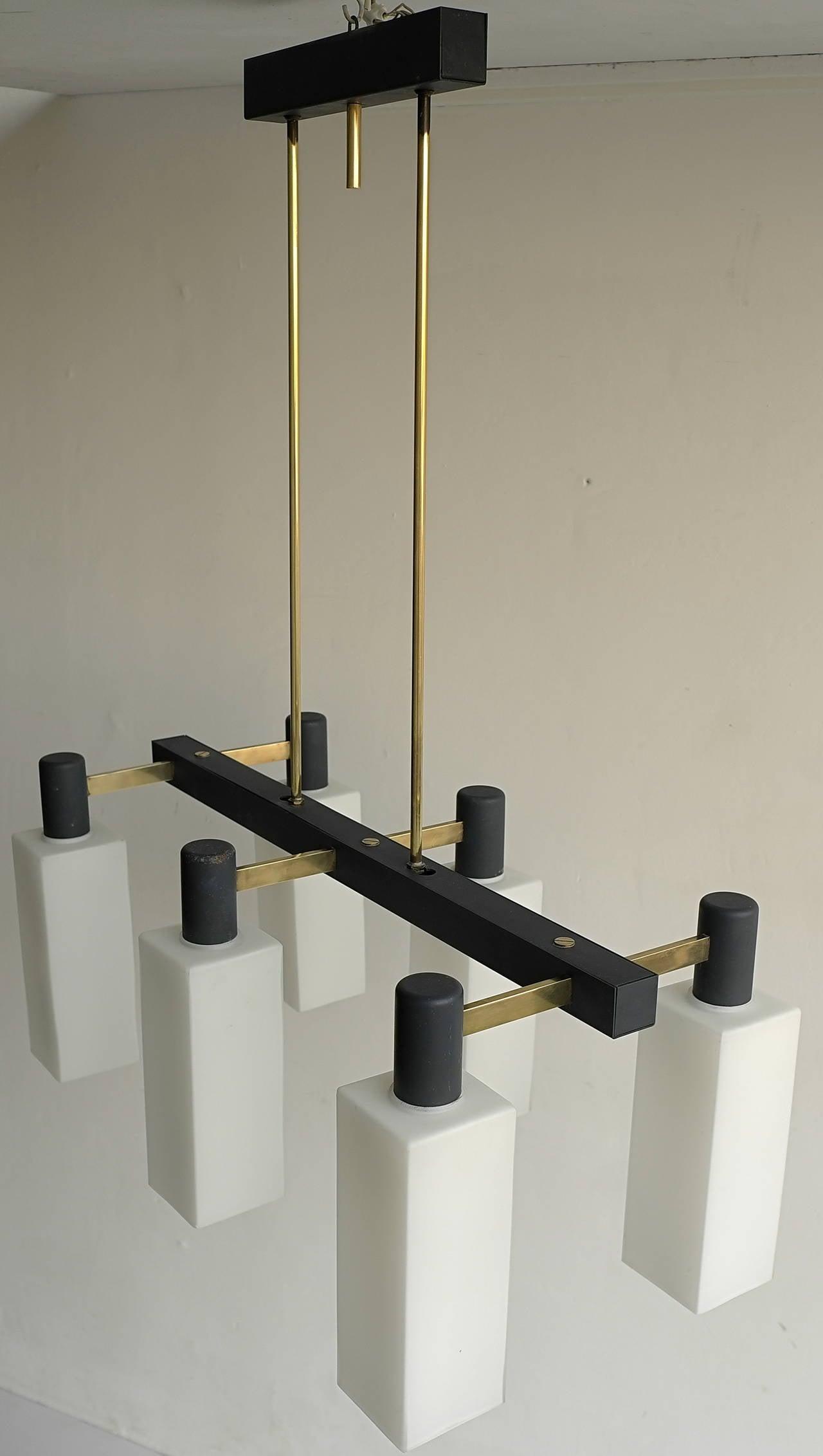 Mid-20th Century Italian Monumental Pendant Lamp, 1960s For Sale