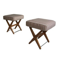 Pair of adjustable stools by A.A Patijn