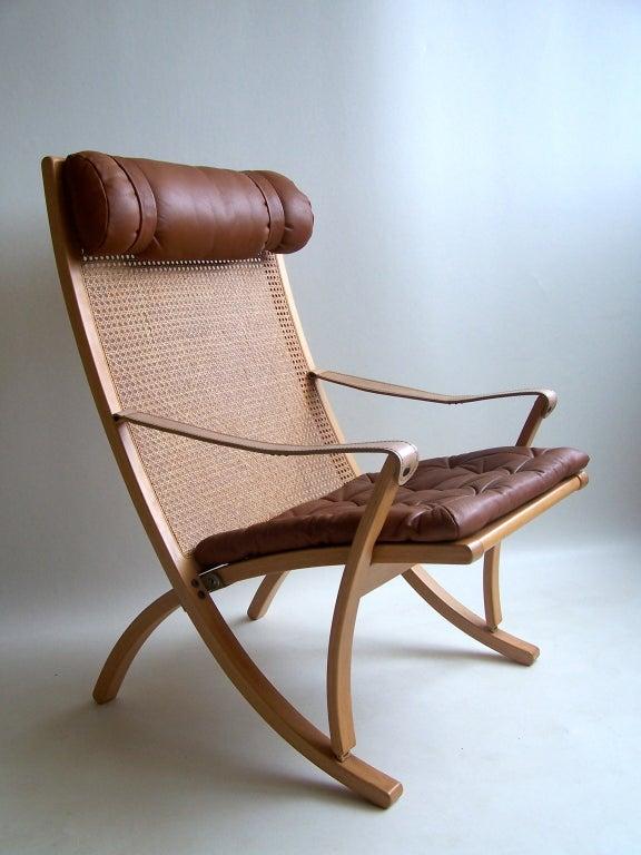 Rare Sigurd Ressel folding chair Vatne Mobler Norway at 1stdibs