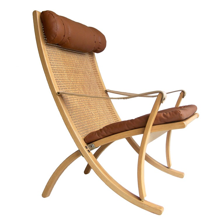 ... Sigurd Ressel folding chair Vatne Mobler Norway For Sale at 1stdibs