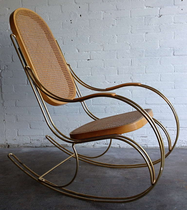 Marvelous Thonet Style Rocking Chair