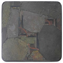 Paul Kingma African Slate And Stone Art Table