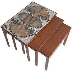 Danish Teak Art Nesting Tables by Ox-Art