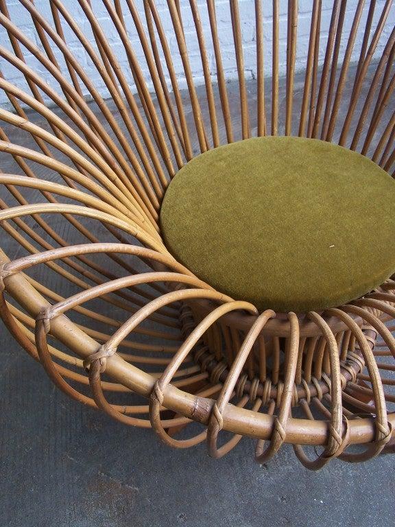 Italian rattan armchairs 1950's 4