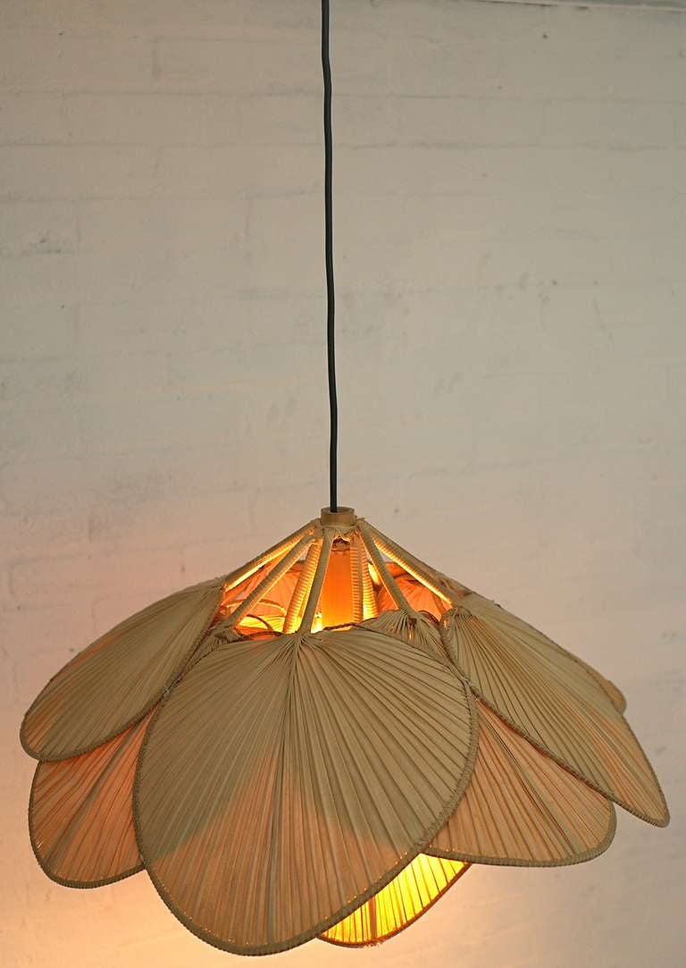 ingo maurer bamboo pendant lamp uchiwa at 1stdibs. Black Bedroom Furniture Sets. Home Design Ideas