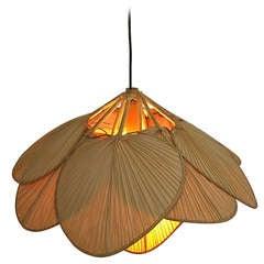 Ingo Maurer Bamboo Pendant Lamp Uchiwa