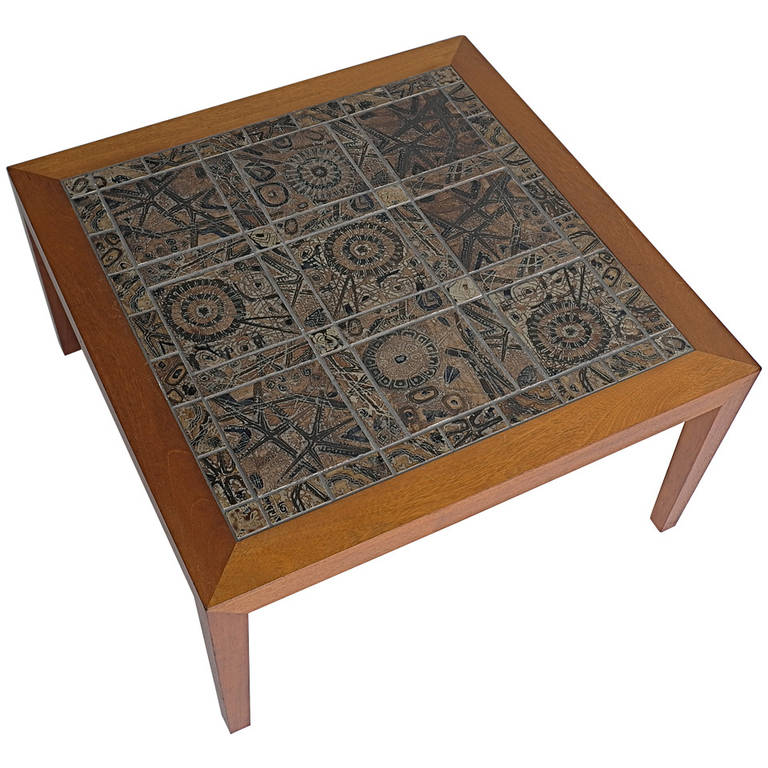 Severin Hansen Jr. Tile Table For Sale At 1stdibs