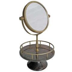 Rare Aldo Tura Goatskin parchment Vanity mirror