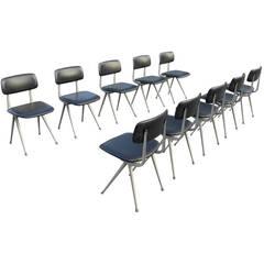 10 x Friso Kramer Industrial Result chairs for Ahrend de Cirkel 1969