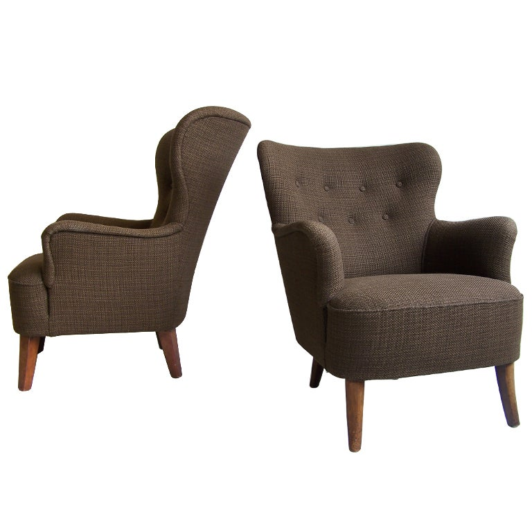 Pair Of Armchairs By Theo Ruth Artifort 1950u0027s 1