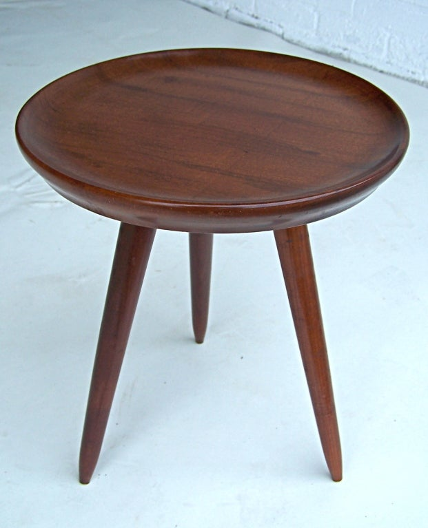 Elegant Small Tripod Side Table At 1stdibs