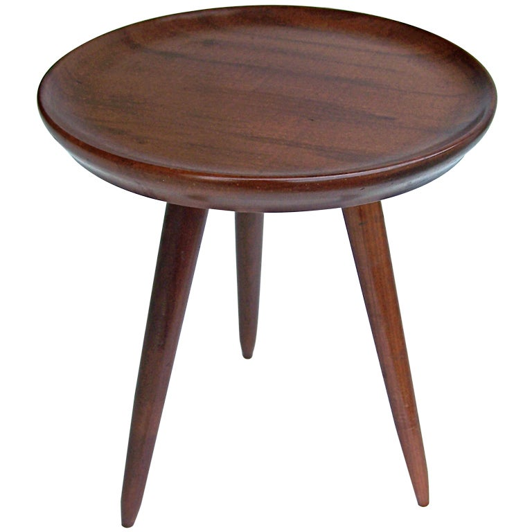 Elegant Small Tripod Side Table At 1stdibs