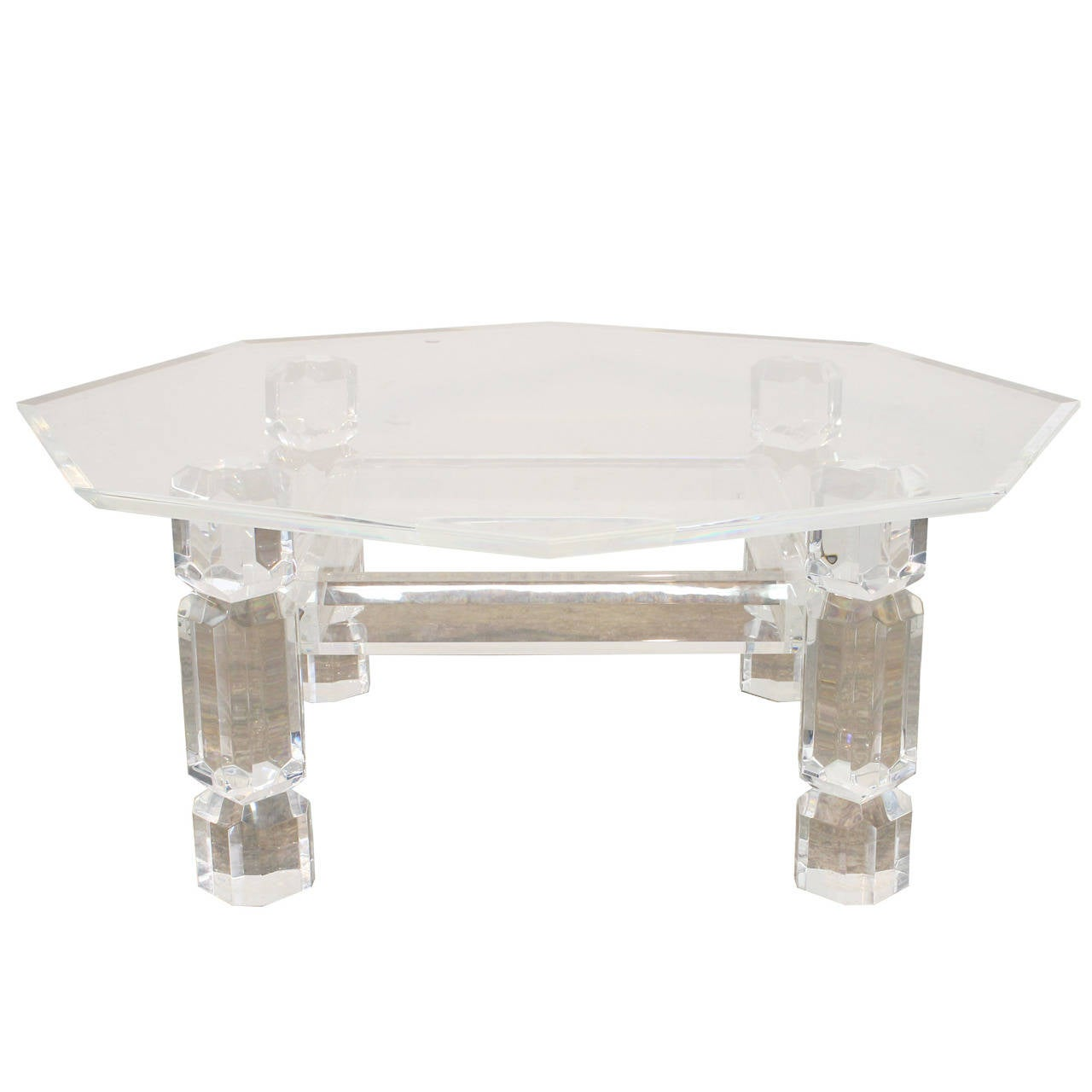 Lucite coffee table bing images Acrylic clear coffee table