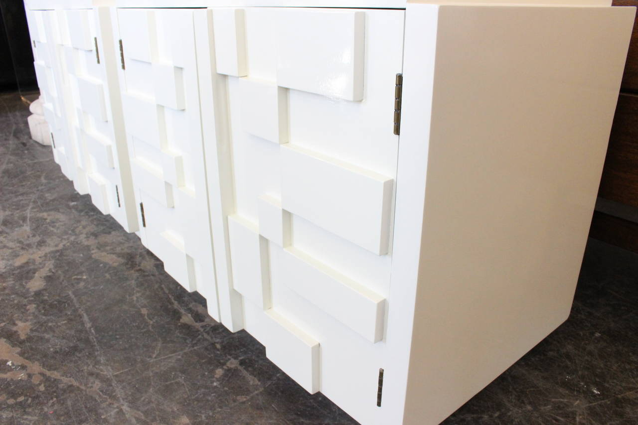 stunning white lacquer nightstand furniture. Newly Lacquered In White Are These Stunning Brutalist Nightstands. Dimensions: 28.5 Lacquer Nightstand Furniture