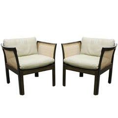 Pair of Illum Wikkelso Lounge Chairs