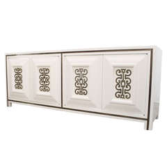 White Lacquer Credenza by Mastercraft