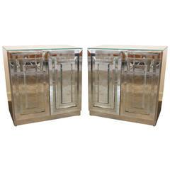 Pair of Ello Mirrored Nightstands