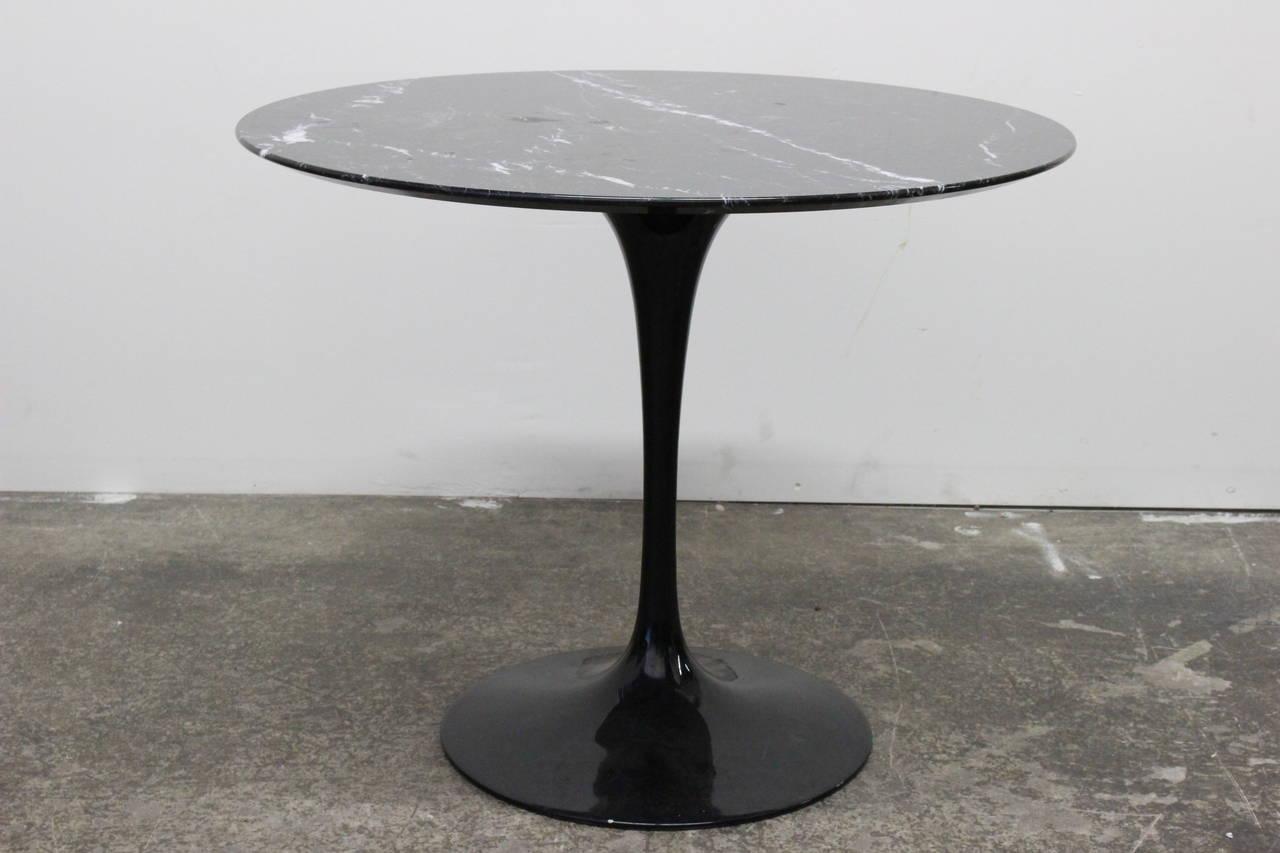 Black Marble Tulip Table By Saarinen At Stdibs - Black marble saarinen table