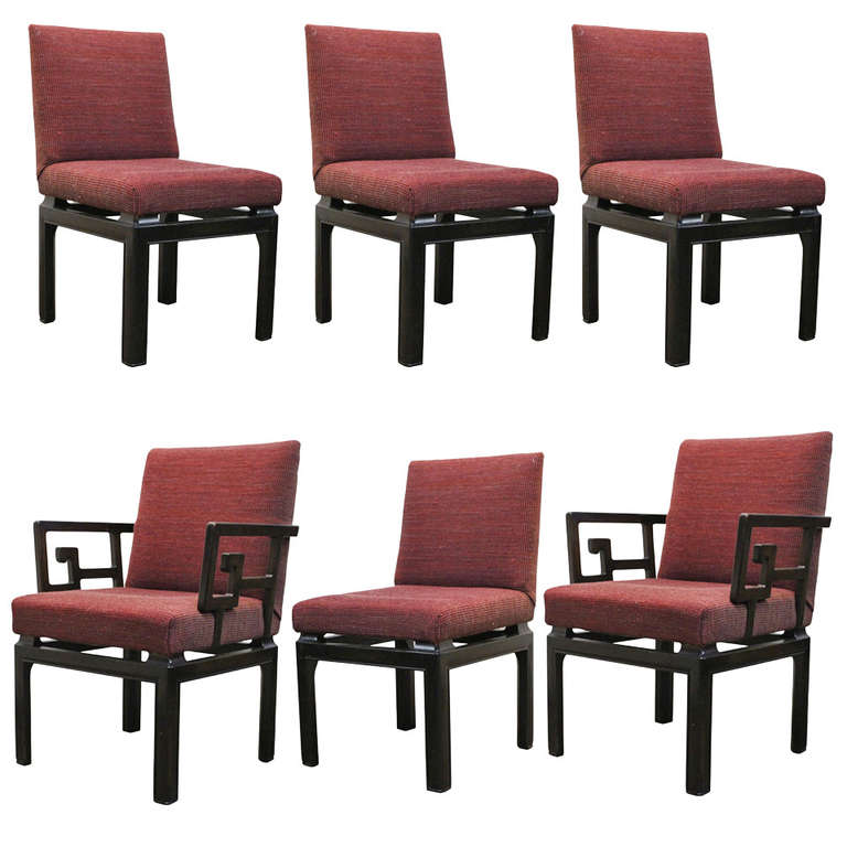Set Of Six Michael Taylor For Baker Dining Chairs For Sale