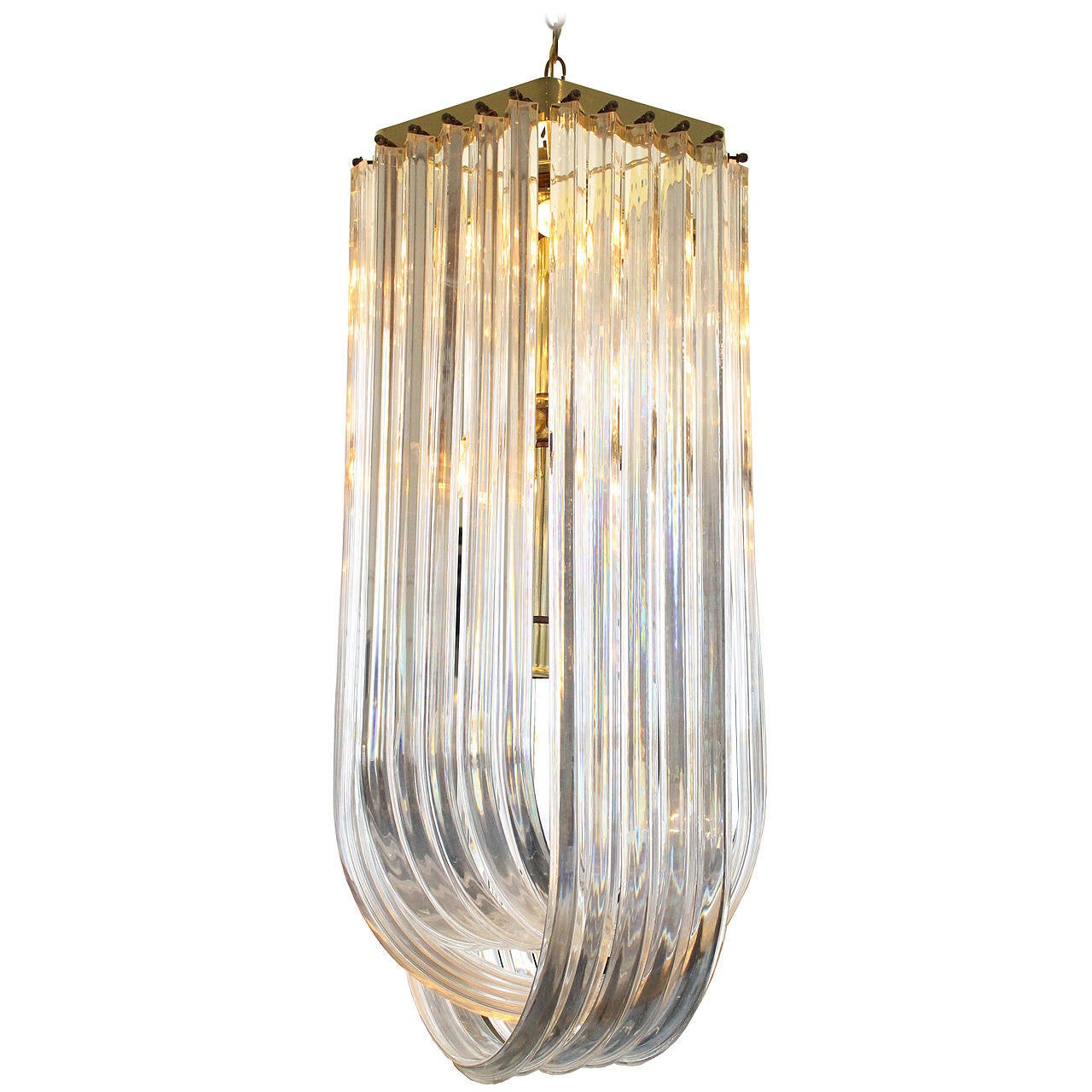 Light Glass Loop Chandelier Gray