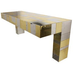 Paul Evans Cityscape Wall-Mounted Console Table