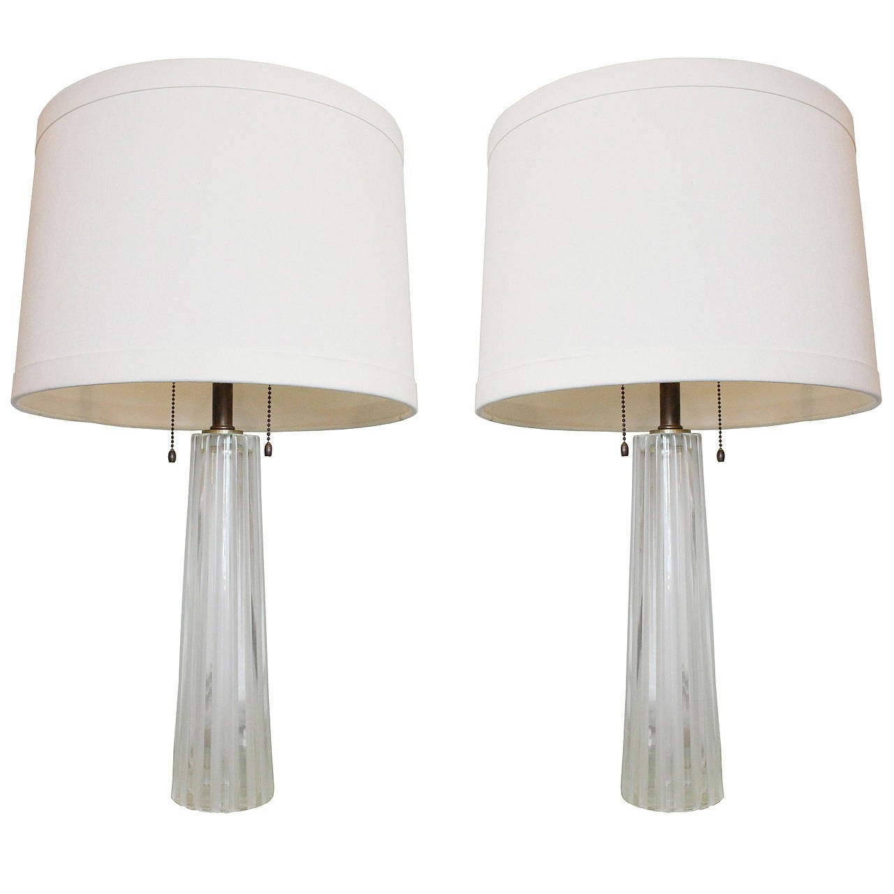 pair of barbara barry crystal lamps for sale at 1stdibs. Black Bedroom Furniture Sets. Home Design Ideas