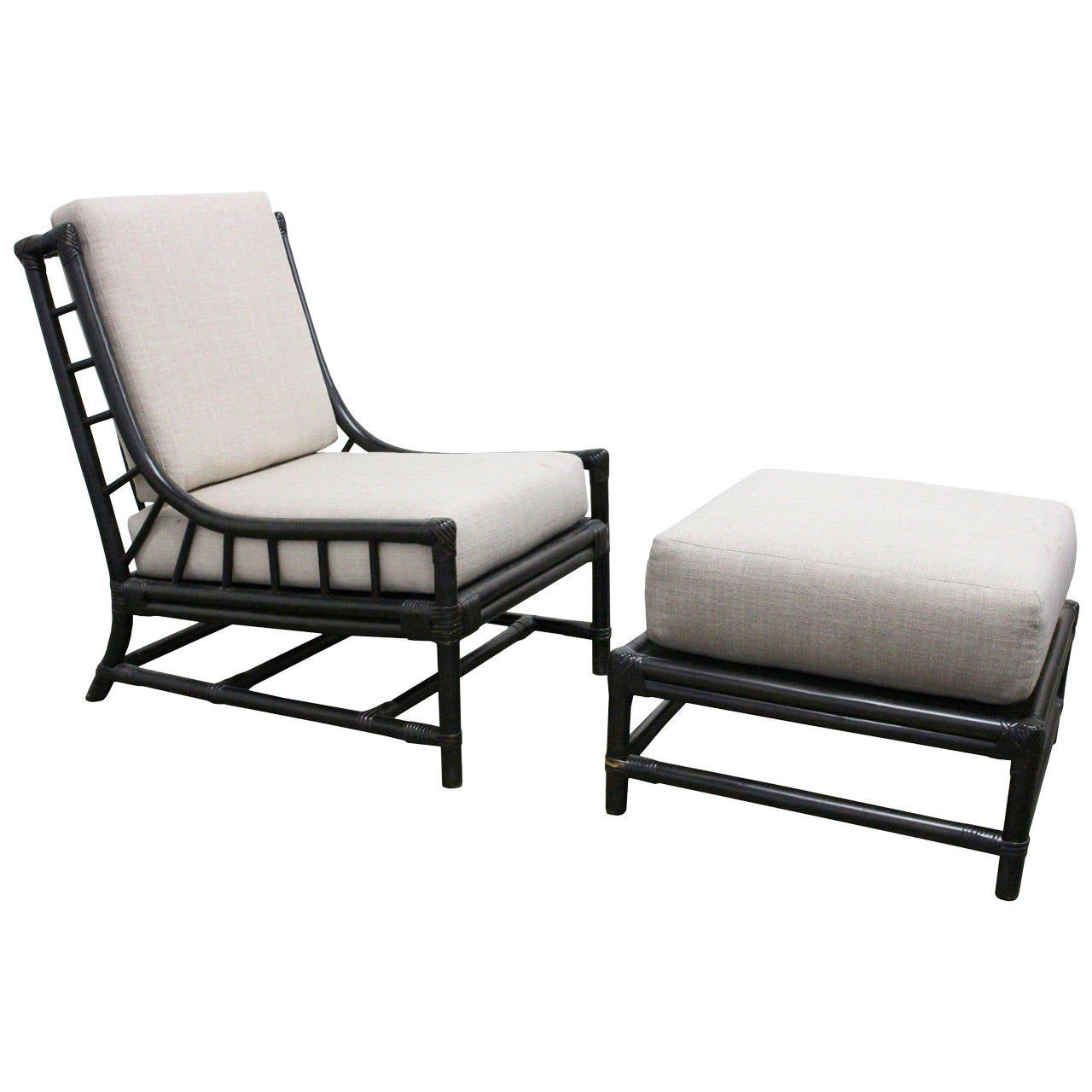 Lounge Chair and Ottoman by Tommi Parzinger for Willow u0026 Reed 1  sc 1 st  1stDibs : chaise lounge with ottoman - Sectionals, Sofas & Couches