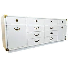Lacquered Campaign Credenza by Drexel