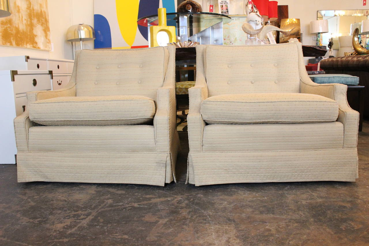 Pair of regency lounge chairs at 1stdibs for Regency furniture living room sets