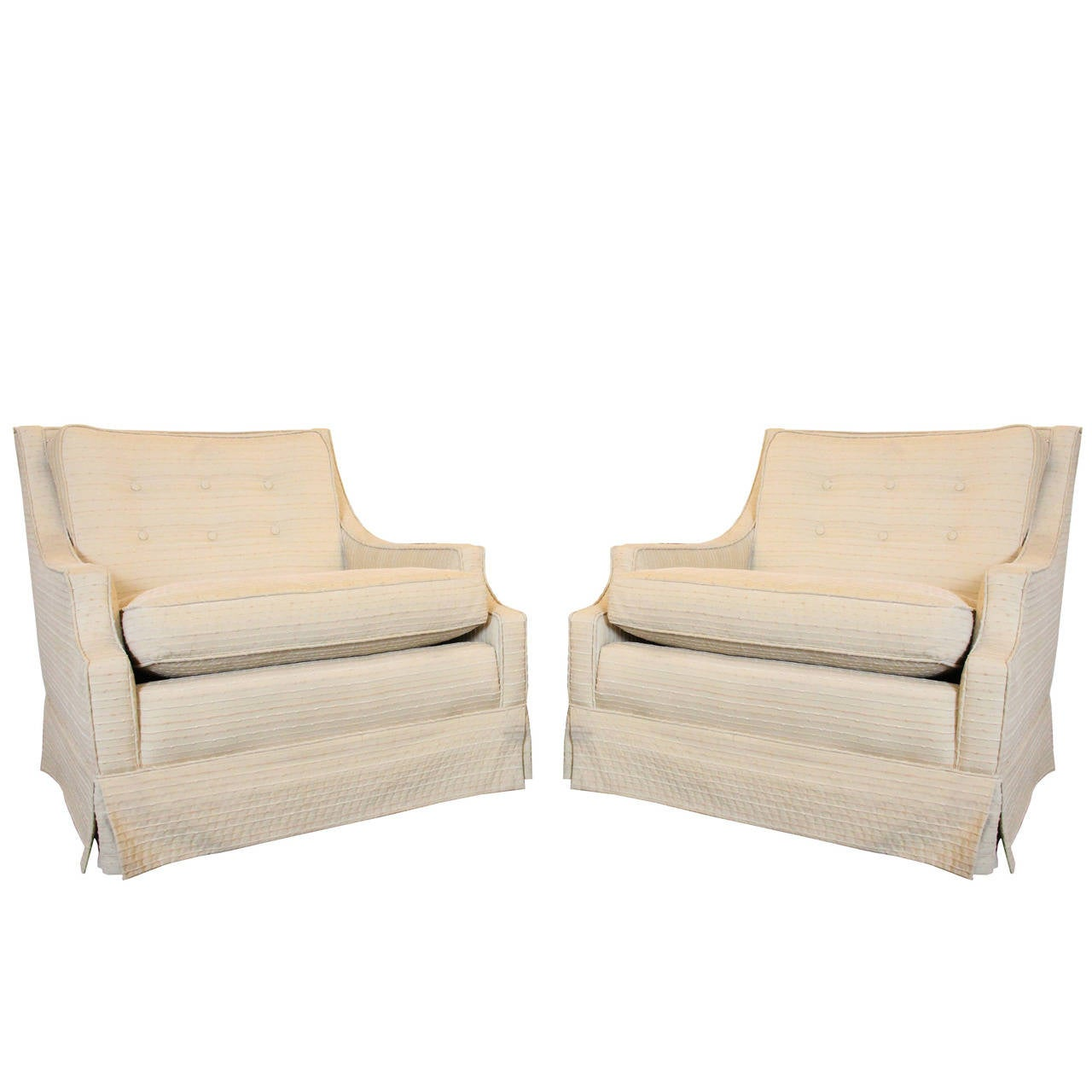 Pair of regency lounge chairs at 1stdibs for Pair of chairs for living room