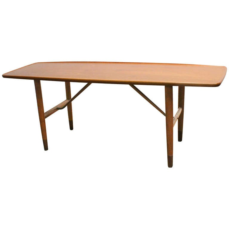Danish Teak Table By Jacob Kjaer At 1stdibs