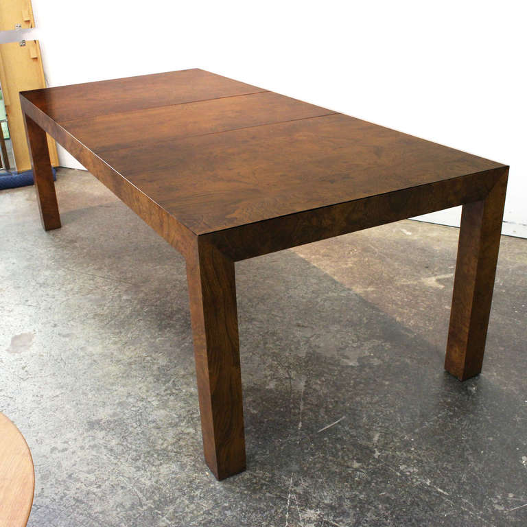 Burl Parsons Dining Table by Milo Baughman 3 - Burl Parsons Dining Table By Milo Baughman At 1stdibs