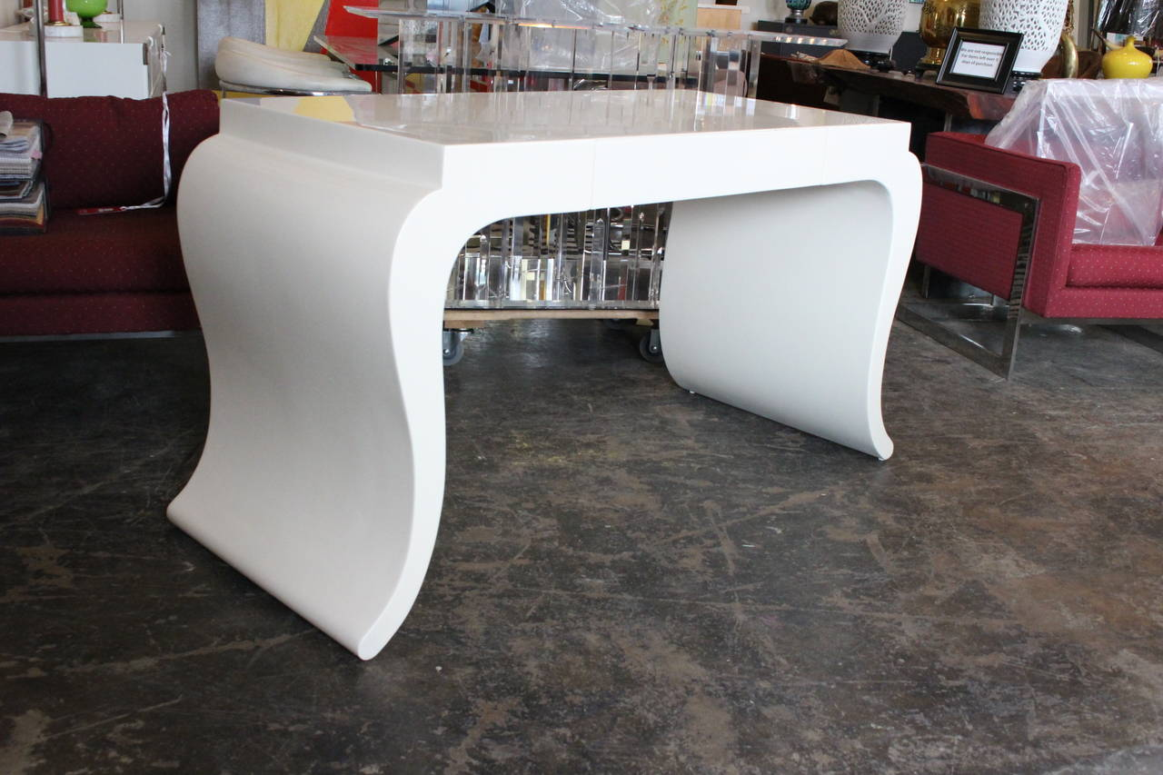 White Lacquered Desk For Sale At 1stdibs