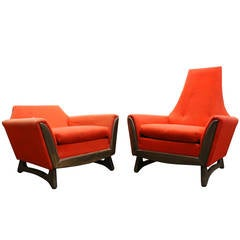 His and Hers Chairs by Adrian Pearsall